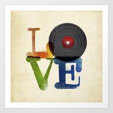 Love is Music Art Print