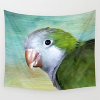 parrot Wall Tapestries featuring Parrot by ThePhotoGuyDarren