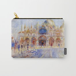 """Auguste Renoir """"The Piazza San Marco, Venice"""" Carry-All Pouch"""