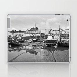 Tenby Harbour Boats.Pembrokeshire.B+W. Laptop & iPad Skin