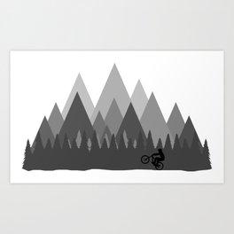 MTB Trailz Art Print