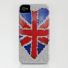The Union Flag ~ Love Slim Case iPhone (4, 4s)