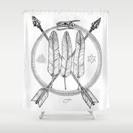Ouroboros Logos Shower Curtain