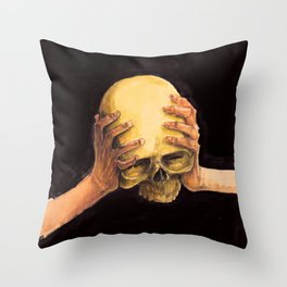 Head on Hands Throw Pillow