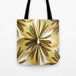 Origami Flowers Golden Tones #decor #society6 #buyart Tote Bag