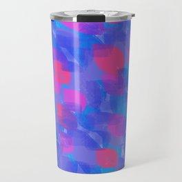 colorful brushstrokes Travel Mug
