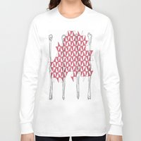 bones Long Sleeve T-shirts featuring bones by smurfmonster