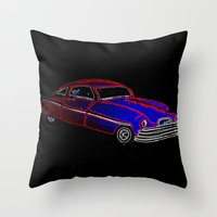 old school Throw Pillows featuring Old School by Adam Metzner