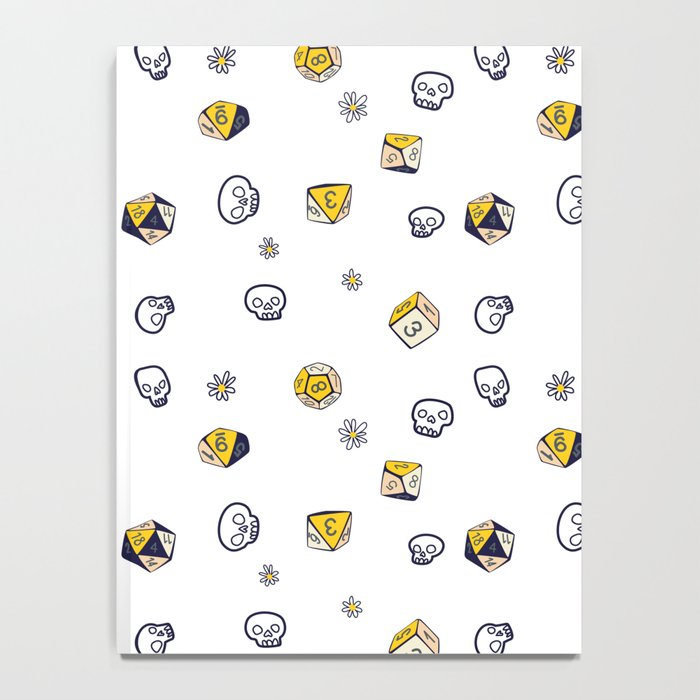 Dice, Daisies, and a lot of Skulls Notebook