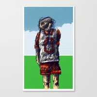 football Canvas Prints featuring football by jenapaul