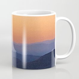 Dreamy Mountain Range | Serene Calm Lavender Orange Daydream Gulf Ombre Sunset California Hills Coffee Mug