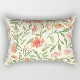 Watercolor Botanical Pattern Rectangular Pillow