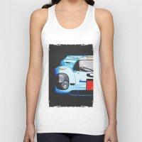 porsche Tank Tops featuring Porsche 917  by Barbo's Art