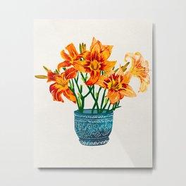 Lily Blossom Metal Print