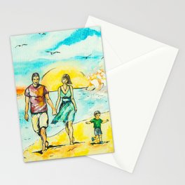 a Sunday stroll in the sea Stationery Cards