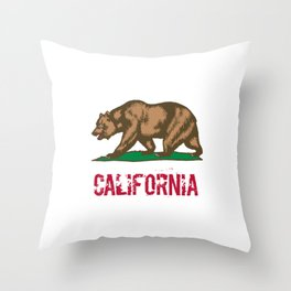 California State Grizzly Bear Throw Pillow