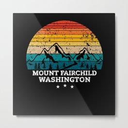 MOUNT FAIRCHILD WASHINGTON Metal Print