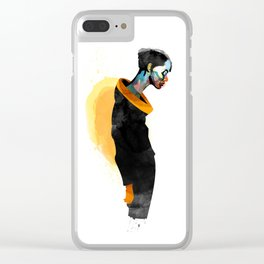 Thanatos Clear iPhone Case