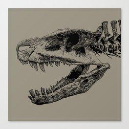 Postosuchus Skull Canvas Print