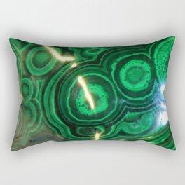 Green Swirled Stones Rectangular Pillow
