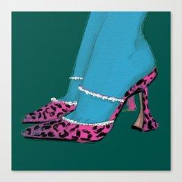 Leopard Heels Canvas Print