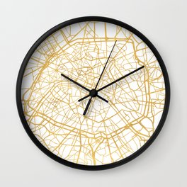 PARIS FRANCE CITY STREET MAP ART Wall Clock
