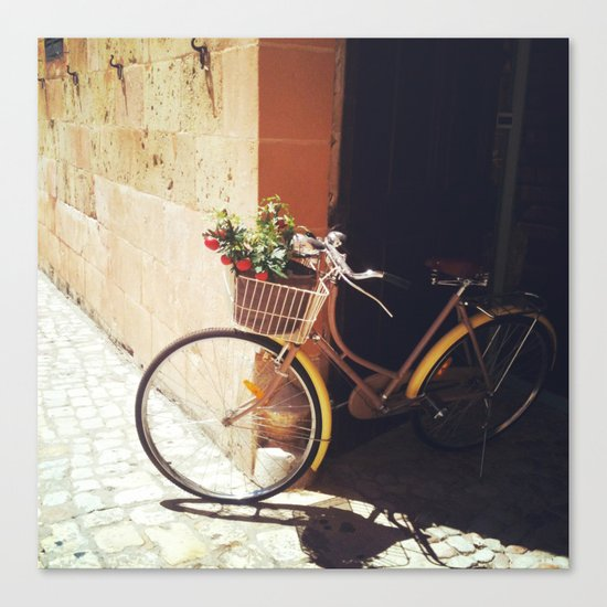 Yellow Bicycle Canvas Print