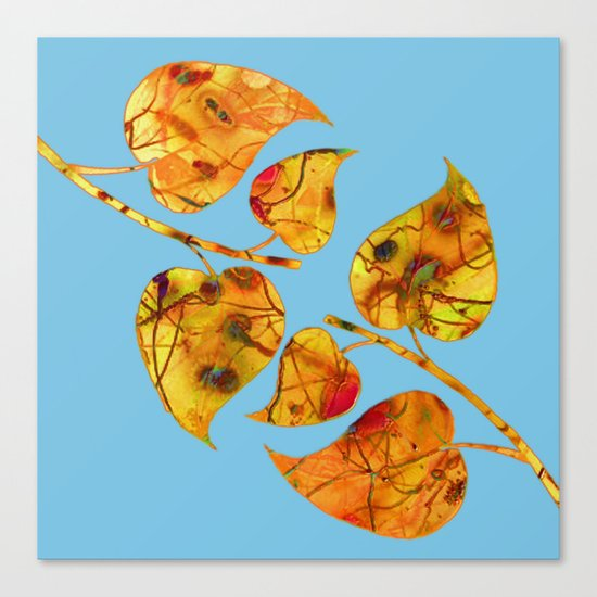 blue automn Canvas Print