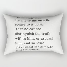 Fyodor Dostoyevsky quote Rectangular Pillow