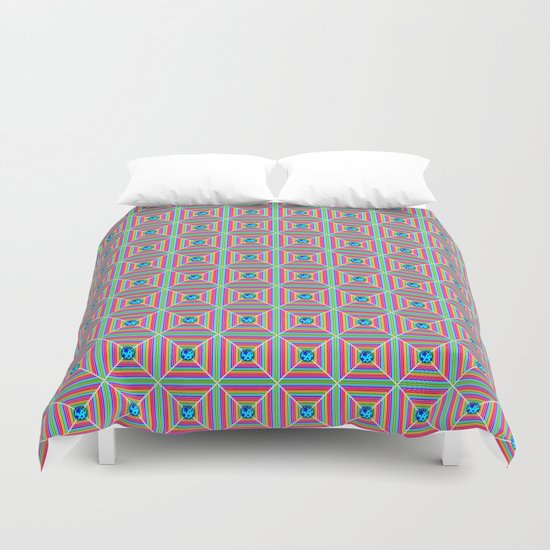 Connect the Dots Pattern Duvet Cover