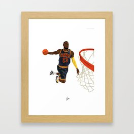 Lebron - NBA CUBISM Framed Art Print