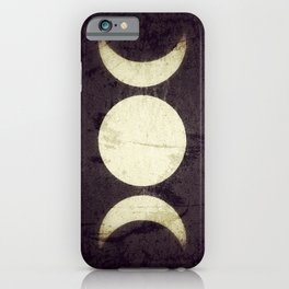 Triple Moon Goddess iPhone Case