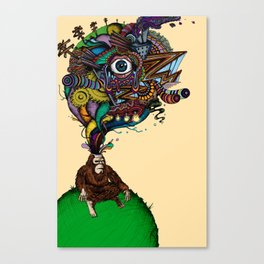 BigFoot & the Electrogasms Canvas Print