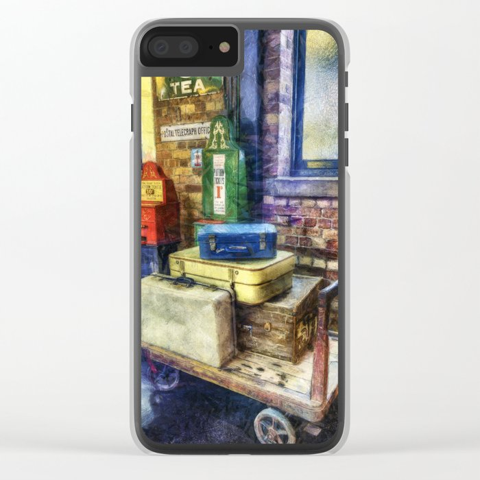 Luggage at the Station Clear iPhone Case