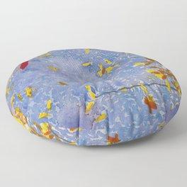 Blue Jungle Floor Pillow