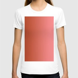 Red to Pastel Red Vertical Linear Gradient T-shirt