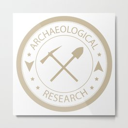 Archaeological research Metal Print