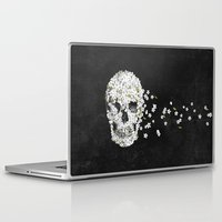 death Laptop & iPad Skins featuring A Beautiful Death - mono by Terry Fan