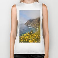 big sur Biker Tanks featuring Big Sur in Bloom, California 1 by gypsysoulshots