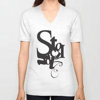 stockholm V-neck T-shirts featuring Stockholm by Nils Gustafsson