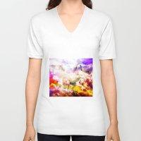unicorn V-neck T-shirts featuring Unicorn  by haroulita