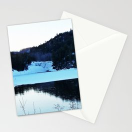 Deer on Thin Ice Stationery Cards
