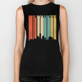 Retro 1970's Milwaukee Wisconsin Downtown Skyline Biker Tank