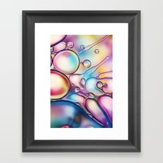 Rainbow Bubble Splash Framed Art Print