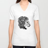 leon V-neck T-shirts featuring Leon by Artful Schemes