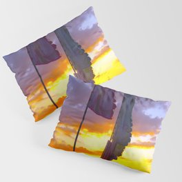 LINDISFARNE MUSIC FESTIVAL Flags In Sunset Pillow Sham