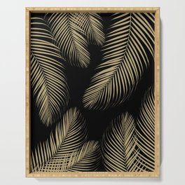Palm Leaves - Gold Cali Vibes #4 #tropical #decor #art #society6 Serving Tray