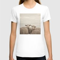 sheep T-shirts featuring Smiling Sheep  by Laura Ruth