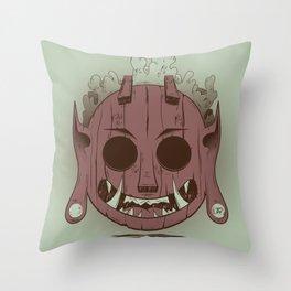Wooden Djinn Throw Pillow