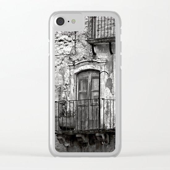 SICILIAN MEDIEVAL FACADE Clear iPhone Case